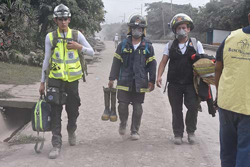 Zaka Search & Rescue Guatemala Volcano Eruption 2018