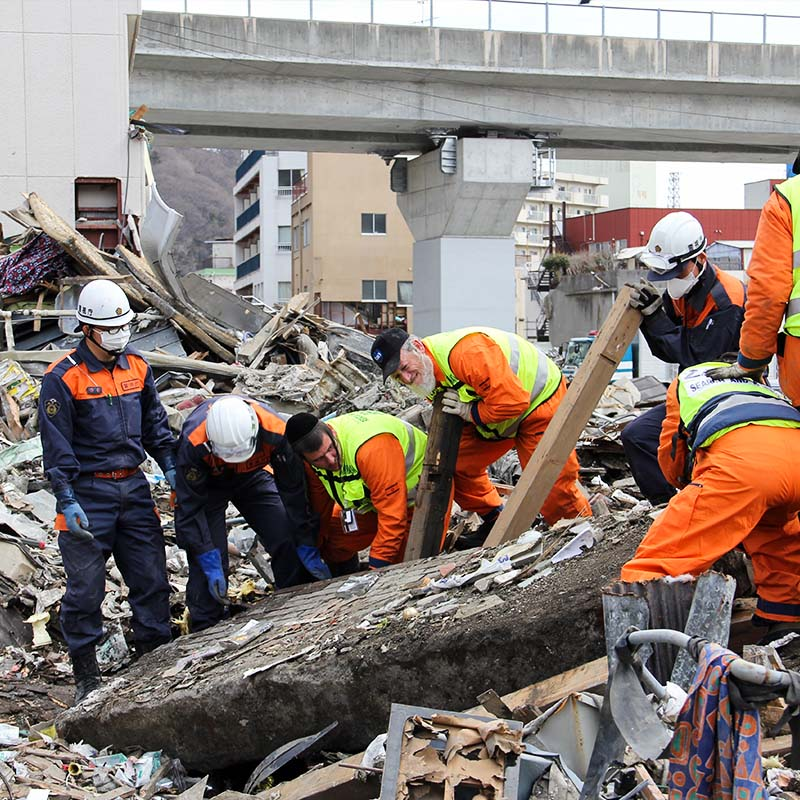 Zaka Search & Rescue Destroyed Building Rubble